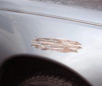 Царапина на автомобиле